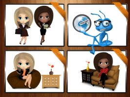 Cartoon Character Set 1 by amorco
