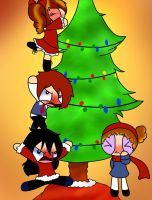 Decorating A Tree As A Family by PERKoverload526