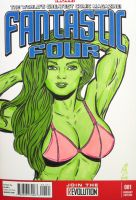 She Hulk Sketch Cover by seanpatrick76