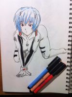 Rei Ayanami drawing 2 by OPStrawhat