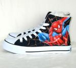 Hand painted Spider-Man shoes by augurlee