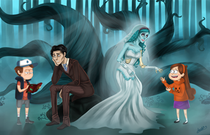 The Corpse Bride in Gravity Falls by Icelandic-catlover