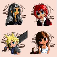 FF7 buttons by Seiteki9