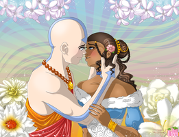 Aang and Katara: Beautiful Ceremony by Annortha
