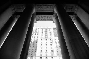 Columns at Union by right-angle