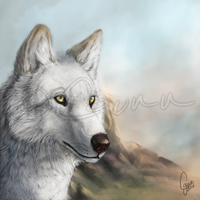 A Painting of Howl by InstantCoyote