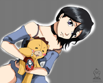 Rukia with kon by DuckySeeYou