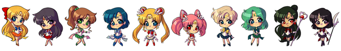 STICKERS Sailor Scouts by starexorcist