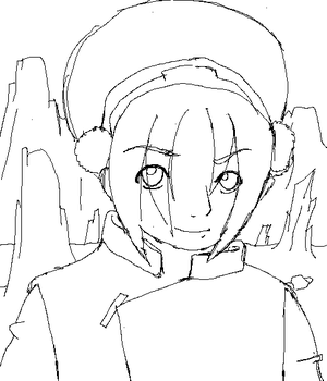 Earthbender Toph WIP by ForeverAvatarded