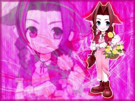 Aerith chibi pink by LoveLoki