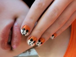 Panda Nails by PrettyAndPolished