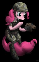 Colonial marine Private Pinkiepie by CorruptionSolid