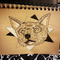 Inktober Day 5: Fox by CalcifiedCrow