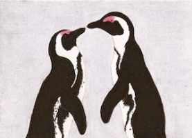 Day 10: African Penguins ACEO by whitetippedwaves