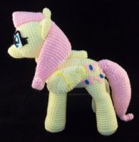 *Sold* Crochet Fluttershy MLP Amigurumi Plush (1) by ImNuckingFuttsToni