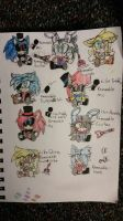 FNAEXE's Plushies (Traditional) by sonicwarriors7