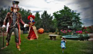 Croquet with the Queen by Chadrificus