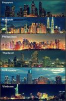SouthEast Asia Cities by C3WhiteRose