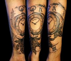 Pocket watch tattoo by SteveToth89