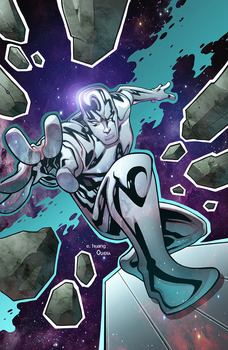 Silver Surfer by Edwing Huang colored by DanOlvera