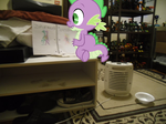 Spike Discovers My Old Dragon Drawings by Eli-J-Brony