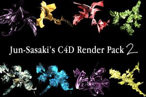 C4D render pack 2 by Jun-Sasaki