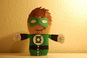3D Origami Green Lantern by iBeautyLovely