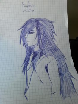 Madara Uchiha with pen by DevilMayCry003