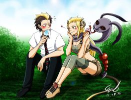P.Commissh : Ryuji and Lamia 2 by cerae28