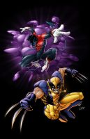 Nightcrawler and Wolverine by rkw0021