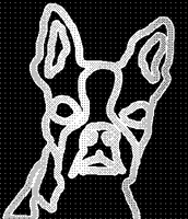 Boston Terrier Absract Drawing by cracklebyte