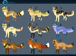 CLOSED- Assorted Fox Adopts! by Capukat