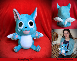 Happy (Fairy Tail) custom plush by Peluchiere