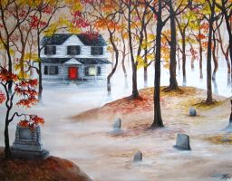 The Ghost of Bachelor Grove Cemetery by MadameAradia