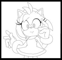 Amy frontview lineart by SMSSkullLeader