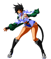 BBCPEX-Bullet-Stand-Animation (Mugen Team Color) by CaliburWarrior