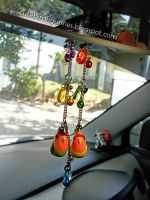 Lovebird car rear mirror bird charms by emmil