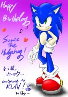 Happy Birthday Sonic by amberday