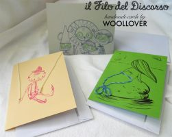 cards designed by me for WOOLLOVER,fairy tales set by Davanyta