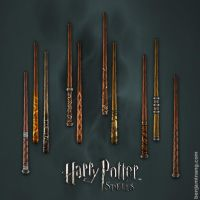 Harry Potter Spells Wands by BenjaminAng