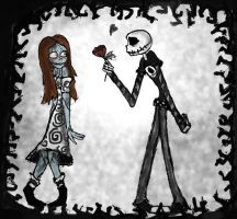 Burton's High School:Jack and Sally by luiganddaisy