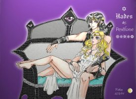 Hades And Persephone by GoddessRhiannon13