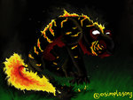 Fire kitty by shayfifearts