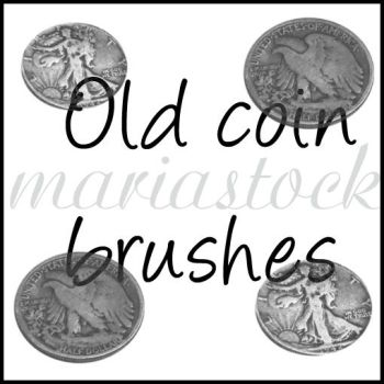 old coins brushes by mariastock