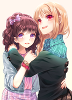 Kasumi and Alira [commission] by Reina-tan