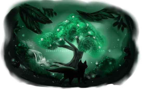 Healing Tree - One Hue Challenge by SerenityScratch