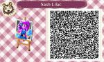 AC: New Leaf QR Code: Sash Lilac by GamefreakDX