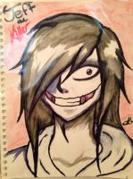 Jeff The Killer Water color by OurMotherJenova