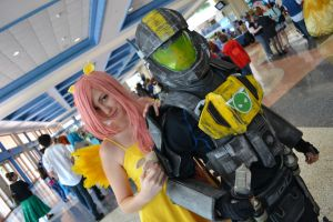 ODST and Fluttershy by Methvell