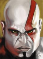 God of War painting.. by SerggArt
